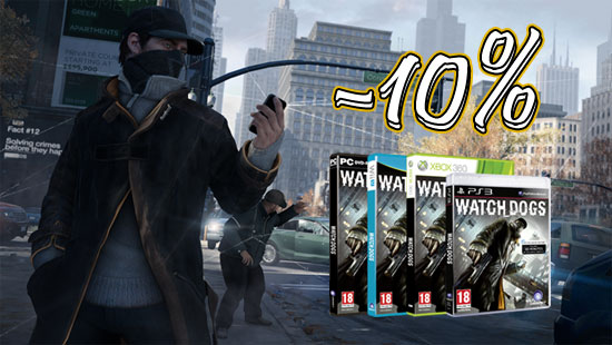 Дарим скидку на Watch Dogs и другие игры!